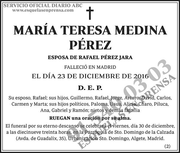María Teresa Medina Pérez